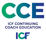 ICF CCE Logo in Blue/ Green